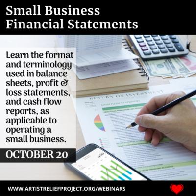 Small Business Financial Statements Webinar October 20, 2021